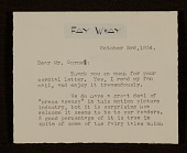 view Fay Wray letter to Joseph Cornell digital asset number 1