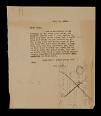 view Joseph Cornell letter to Mina Loy digital asset number 1