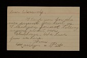 view Marilyn and Pat letter to Joseph Cornell digital asset number 1