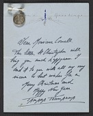 view Tamara Toumanova, Beverly Hills, Calif. letter to Joseph Cornell, Flushing, N.Y. digital asset number 1