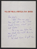 view Virginia Dorazio letter to Joseph Cornell digital asset number 1