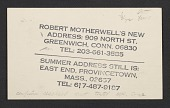 view Robert Motherwell postcard to Joseph Cornell digital asset number 1