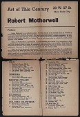 view Art of this century gallery catalog for Robert Motherwell exhibition digital asset number 1