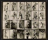 view Contact sheet with photographs of artists' model Tony Sansone digital asset number 1
