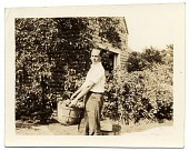view Allyn Cox with a basket of apples digital asset number 1