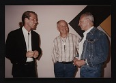 view Photograph of Daniel Wheeler, Douglas Cramer, and Ellsworth Kelly digital asset number 1