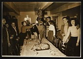 view Dinner party at Florence and Konrad Cramer's house digital asset number 1