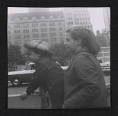 view Kathy and Ruth Criss watching a St. Patrick's Day parade digital asset number 1