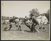 view Photograph of John Steuart Curry sketching a football practice at the University of Wisconsin-Madison digital asset number 1