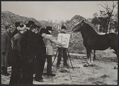 view Photograph of John Steuart Curry sketching a horse digital asset number 1