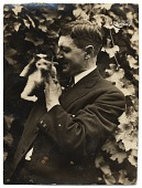 view Photograph of Alfred Lenz with a cat digital asset number 1