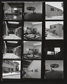 view Contact sheet with images of Ronald Davis's Malibu, Florida home and studio digital asset number 1