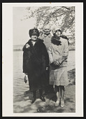 view Photograph of Worden Day and her parents, Katherine and Daniel Day, at the Tidal Basin, Washington, D.C. digital asset number 1