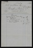 view Receipts and Invoices digital asset: Receipts and Invoices: circa 1882-circa 1889