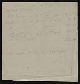 view Receipts and Invoices digital asset: Receipts and Invoices: 1904-1922