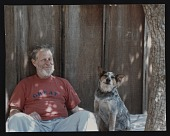 view Roy De Forest with his dog Pepe digital asset number 1