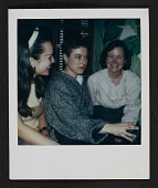 view Pat Hearn with two unidentified women at a party digital asset number 1
