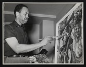 view Photograph of Richard Dempsey painting at the Plaza in Washington, D.C. digital asset number 1