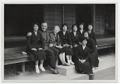 view Margaret de Patta and her husband Eugene Bielawski, with a group of Japanese artists in Kyoto digital asset number 1