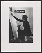 view Eleanor Dickinson at her exhibit <em>Line drawing</em> digital asset number 1