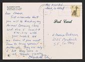 view Elizabeth Sher postcard to Eleanor Creekmore Dickinson digital asset: verso