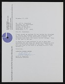 view Langston Hughes Center for the Visual and Performing Arts, Buffalo, N.Y. letter to Jeff Donaldson, Washington, D.C. digital asset number 1