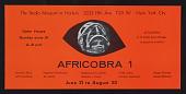 view Flyer for <em>AFRICOBRA I: Ten in Search of a Nation</em> at the Studio Museum in Harlem digital asset number 1