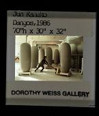view Jun Kaneko moving one of his Dango sculptures on a cart digital asset number 1