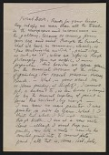 view Oscar Bluemner letter to Arthur Garfield Dove digital asset number 1