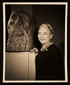 view Edith Gregor Halpert with a sculpture digital asset number 1