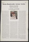 view Yasuo Kuniyoshi: artists' artist digital asset number 1