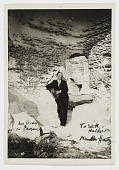 view Marsden Hartley outside a cave in Les Baux, Provence, France. digital asset: page 1