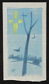 view Winter scene with tree and birds digital asset number 1
