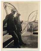 view Frank DuMond and Leroy Metcalf on a fishing boat digital asset number 1