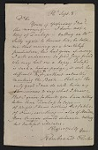 view Rembrandt Peale letter to unidentified recipient digital asset number 1