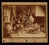 view Frank Duveneck, in his studio, with Frank Dengler and H.F. Farny digital asset number 1