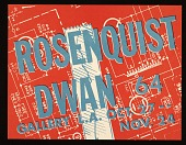 view Dwan Gallery flyer for a James Rosenquist exhibition digital asset number 1