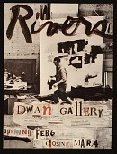 view Dwan Gallery announcement for Larry Rivers exhibition digital asset number 1