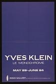 view Dwan Gallery exhibition announcement for <em>Yves Klein Le Monochrome</em> digital asset number 1