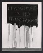 view Detail of Mel Bochner's <em>Language is not transparent</em> from the <em>Language IV</em> exhibit at the Dwan Gallery in New York digital asset number 1