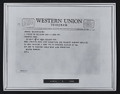 view Reproduction of Walter De Maria telegram to Virginia Dwan digital asset number 1