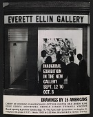 view An exhibition announcement for the Everett Ellin Gallery's <em>Inaugural Exhibition in the New Gallery</em> digital asset number 1