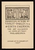 view Exhibition catalog of work by Violet Oakley & Edith Emerson digital asset number 1