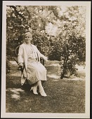 view Edith Emerson seated in garden digital asset number 1
