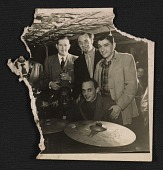 view Bill Davison, Rudi Blesh, Bob Author(?), Baby Dodds and Jimmy Ernst at a Jazz club digital asset number 1