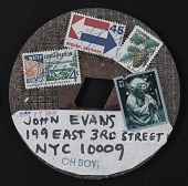 view John Tostada mail art to John Evans digital asset number 1