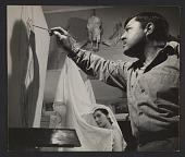 view Philip Evergood working on his painting <em>Bride</em> digital asset number 1