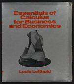 view Book jacket to <em>Essentials of Calculus for Business and Economics</em> by Louis Leithold digital asset number 1