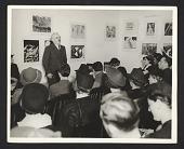 view Holger Cahill speaking at the Harlem Community Art Center digital asset number 1