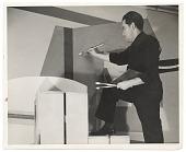 view Photograph of Stuart Davis painting WNYC studio mural digital asset number 1